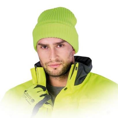 czapka zimowa fluo